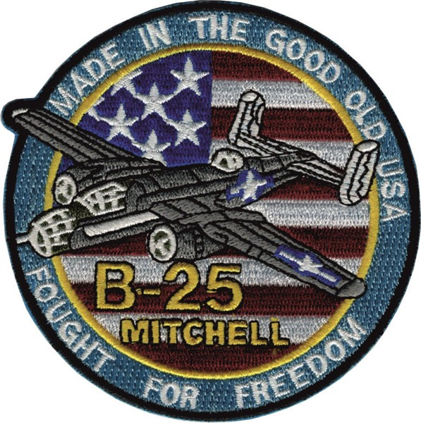 Picture of Mitchell B-25 Patch Good old USA  98mm