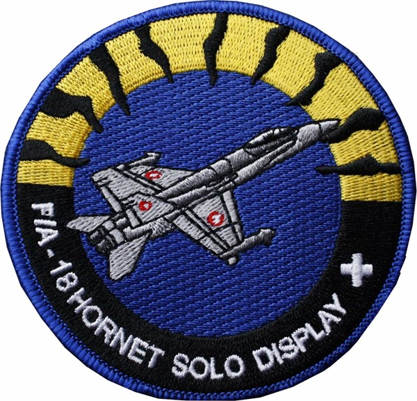 Photo de F/A-18 Hornet Forces aériennes Suisses solo Display Badge