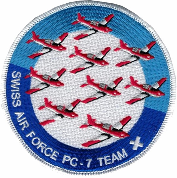 Picture of PC-7 Team Patch Swiss Air Force Team