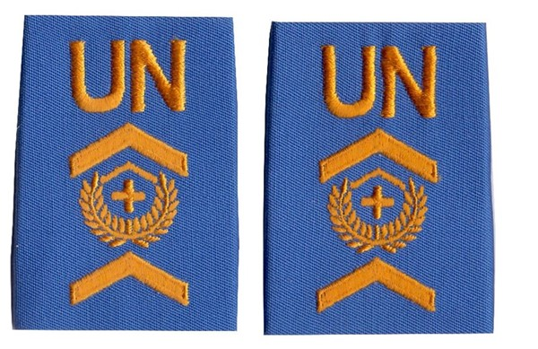 Picture of United Nations UNO Shoulder Ranks Quartermaster Sergeant