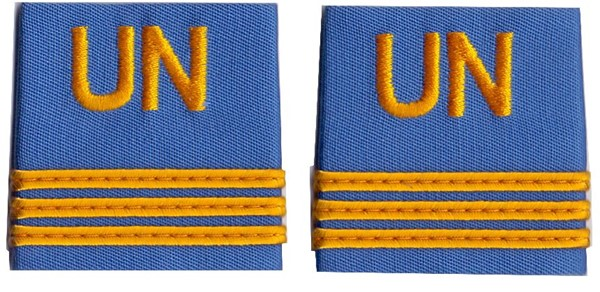 Picture of UN rank insignia Captain United Nations Troups
