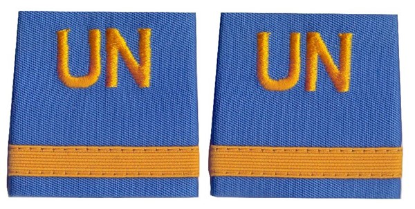Picture of UN rank insignia Major United Nations Troups UNO