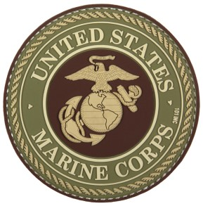 Picture of U.S. Marine Corps Logo grün PVC Rubber Patch