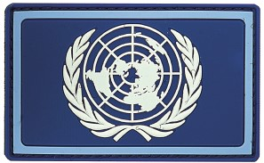 Photo de UNO Flagge United Nations Abzeichen Patch PVC Rubber