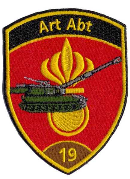 Photo de Artillerie Abt 19 Badge braun ohne Klett