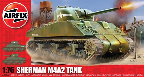 Picture of Airfix Sherman M4A2 Panzer Modellbausatz 1:72