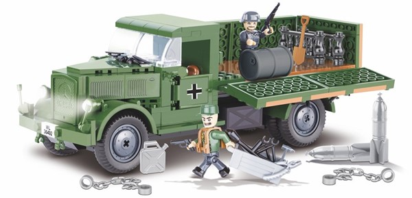 Photo de Cobi Mercedes Benz L3000 Lastwagen Deutsche Wehrmacht WWII Baustein Set