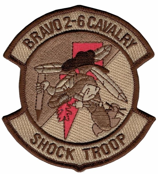 Photo de Bravo 2-6 Cavalry Shock Troop Helikopter Patch Tarn