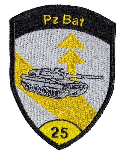 Photo de Panzer Bat 25 Badge gelb ohne Klett