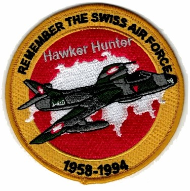 Photo de Hawker Hunter Badge Forces aériennes suisse