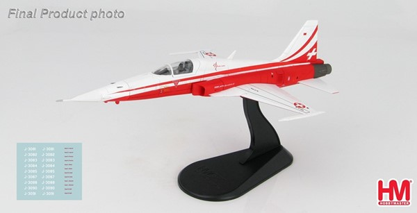 Picture of Tiger F5E Patrouille Suisse diecast airplane metal model 1:72 Hobby Master