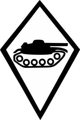 Picture of Armored Troops Swiss Army Car Sticker
