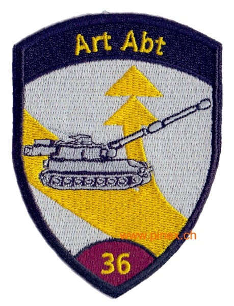 Picture of Art Abt 36 violett ohne Klett Artillerie Badge