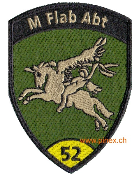 Photo de M Flab Abt 52 gelb mit Klett, Flab Badge