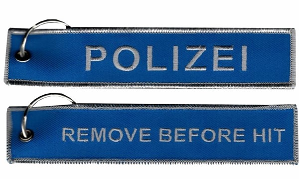 Photo de Polizei Schlüsselanhänger, Remove before HIT