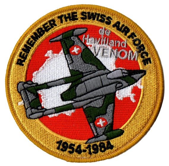 Photo de de Havilland Venom Badge Forces aériennes suisse