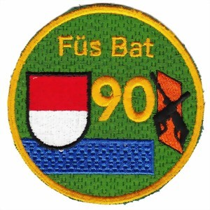Picture of Füs Bat 90 blau Armee 95 Badge