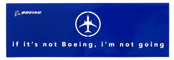 Photo de If it`s not Boeing, I`m not going Autoaufkleber