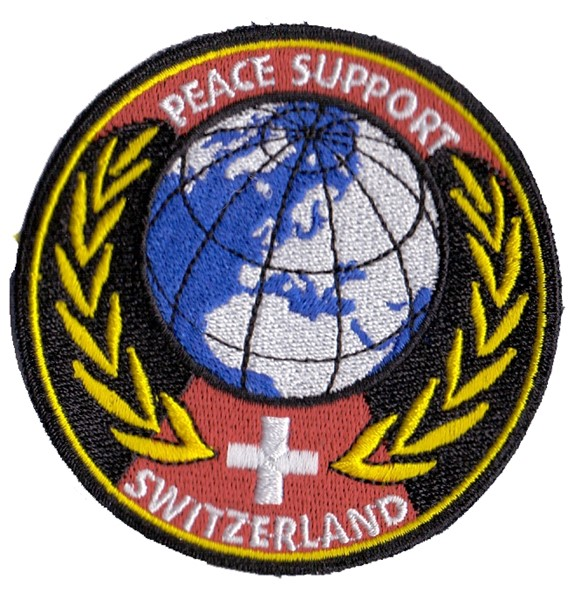 Photo de Badge Peace Support dorée Armée Suisse
