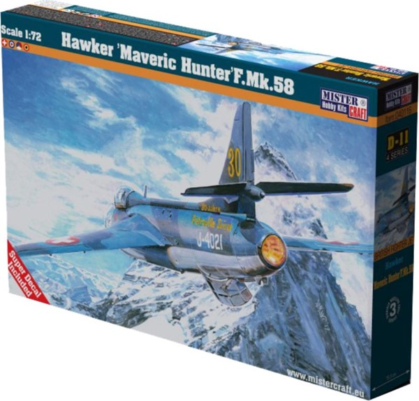 Photo de Hawker Hunter MK.58 1:72 Plastikbausatz 30 Jahre Patrouille Suisse