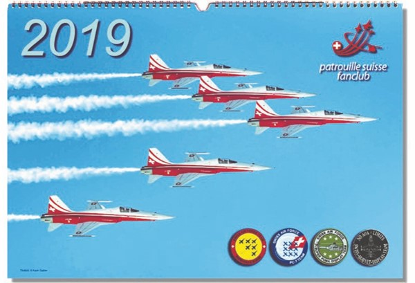 Photo de Patrouille Suisse Calendrier 2019 PRÉ COMMANDER.  Disponible à partir de mi-November.