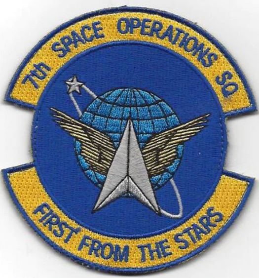 "Bild von 7th Space Operations Squadron ""First from the Stars"" Abzeichen Patch mit Klett"