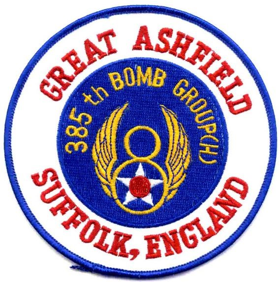 Bild von 385th Bombardement Group WWII Europa Abzeichen US Air Force Great Ashfield Suffolk England