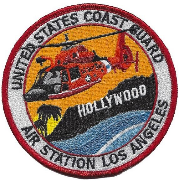 Bild von United States Coast Guard Air Station Los Angeles Hollywood Abzeichen Patch