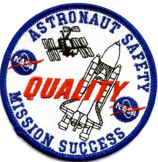 Bild von NASA Astronaut Safety Quality Mission Success Patch Abzeichen