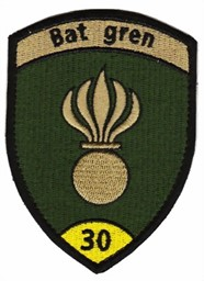 Photo de Bat Gren 30 gelb mit Klett Grenadier Badge