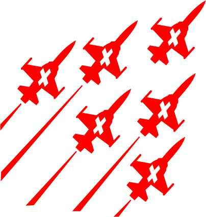 Photo de Patrouille Suisse autocollant, Sticker Patrouille Suisse