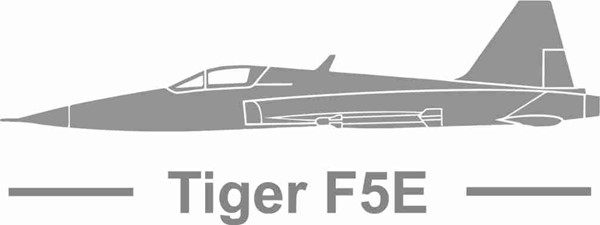 Picture of Tiger F5E mit Schrift Standard Links