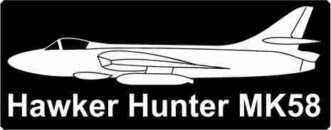 Picture of Hawker Hunter side mit Schrift