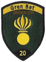 Photo de Grenadier Bat 20 schwarz Emblem ohne Klett