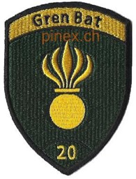 Photo de Grenadier Bat 20 grün Badge ohne Klett