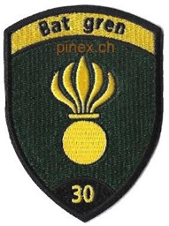 Photo de Bat Gren 30 schwarz Badge ohne Klett