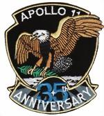 Jubil 228 Ums Badge Apollo 11 35 Jahre Apollo Raumfahrt Badge